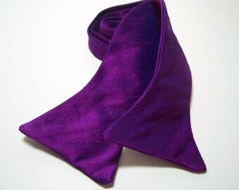 Men's Bowtie Freestyle Bow Tie Magenta Silk