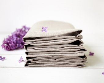 Linen napkins set of 6 - Easter napkin cloths - Organic napkins - Spring wedding napkins - Easter table decor