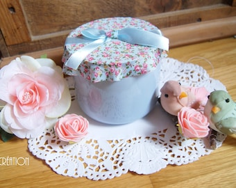 Petit pot bleu en céramique