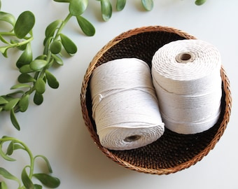Cotton Twine 2mm, macrame rope 2mm, tube of 100 % cotton