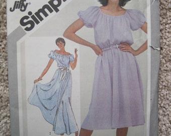 UNCUT Women's Pullover Dress - Size 14/16 - Simplicity Pattern 5094 - Vintage 1981
