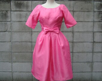 1960s Dress pink party dress