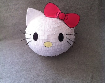 Kitty with bow piñata