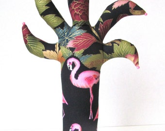 OOAK Flamingo Palm TREE-Stand ~ Eyeglass Jewelry Holder ~ Ready to Ship