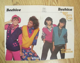 Patons Beehive Best Vests Ever Volume 1 / Beehive Book no. 466 / Women's vest knitting patterns