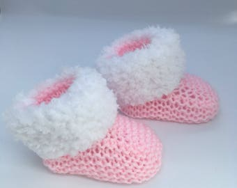 Baby Booties, Newborn Baby Shoes, Knitted Socks, Baby Shower Gift, Baby Gift, Baby Girl Gift, Baby Boy Gift,