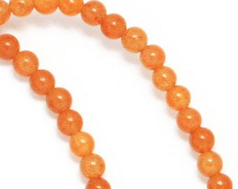Peach Aventurine Beads - 4mm Round