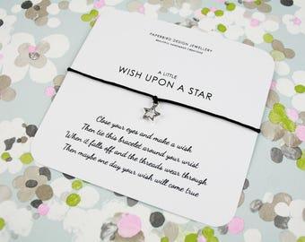 Cute Make a Wish Bracelet with Star Charm - Friendship Bracelet - Bracelet Gift