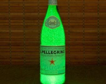 San Pellegrino 750ml Bottle Lamp Bar Night Light Restaurant Decor Kitchen Decor