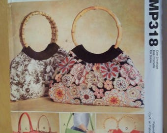 McCall's Fashion Accessories Pattern MP318/M4323, Bags, Uncut