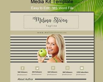 Electronic Press Kit Media Kit Template Blogger Media Kit