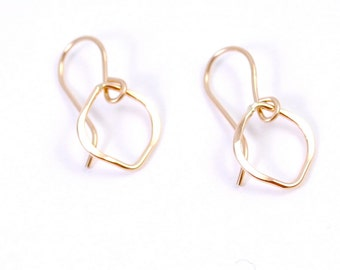 Small Tear Drop Earrings in 14K Gold Filled or Sterling Silver