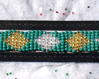 Horse Bridle Brow Band- Crystal & Gold Diamonds- Full Size