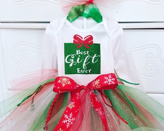 "Christmas "" Best Gift Ever"" onesie"