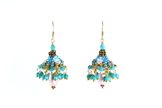Temple Bells Earings Pattern Instant Download
