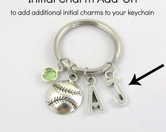 Add an Initial Charm- for keychains only