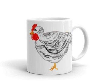 Black and White Chicken Coffee Mug