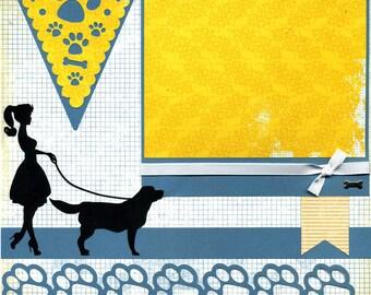 Love My Dog - Premade Scrapbook Page