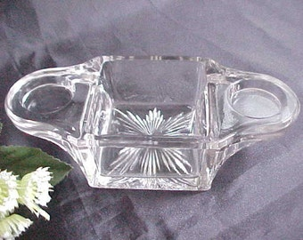 1920s Westmoreland Stacking Breakfast Set Holder # 462, Clear Depression Glass Serving Piece