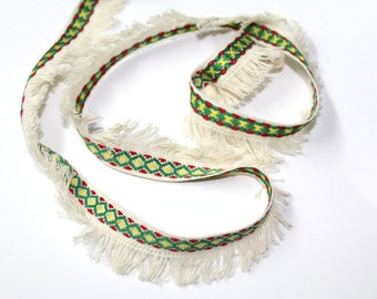 2 YRD of Ethnic  Ribbon Trim for Crafts, Sewing