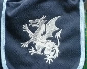 Rampant Dragon Bag, Heraldry Reporter Bag Medieval Handbag Coat of Arms shoulder Vape Bag Medical kit bag
