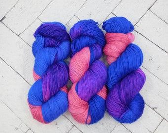 Ken & Barbie- Hand-dyed Superwash Sock Yarn