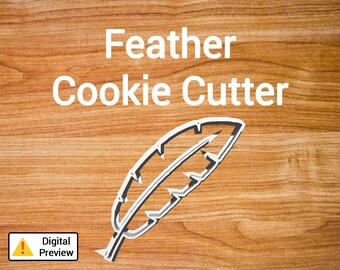 "4"" Feather Cookie Cutter (Object Set)"