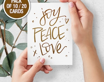 joy peace love // Greeting Cards // All Occasion Cards // Wishing you well // Happiness // Peace // Love // Joy //