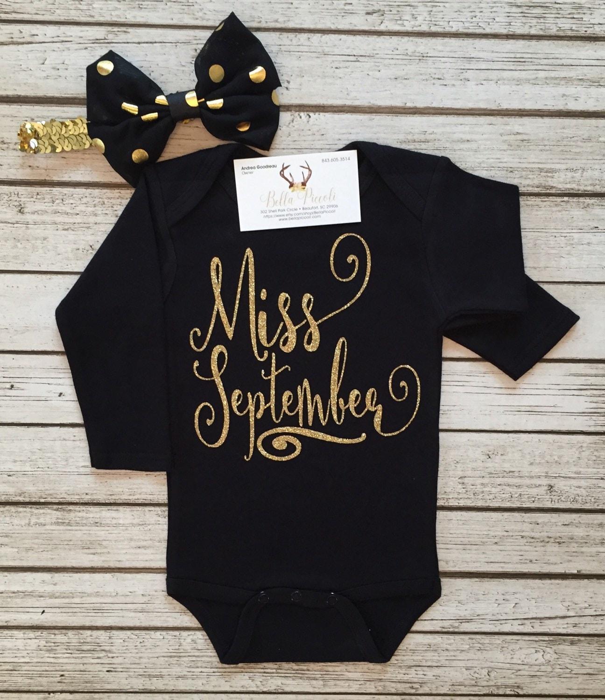Baby Girl Clothes Miss September Girls Bodysuit Miss September