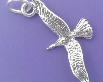 SEAGULL Charm .925 Sterling Silver Sea Gull, Bird Pendant - sc276