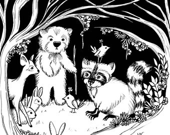 Magical Forest Collection - Woodland Creatures 1