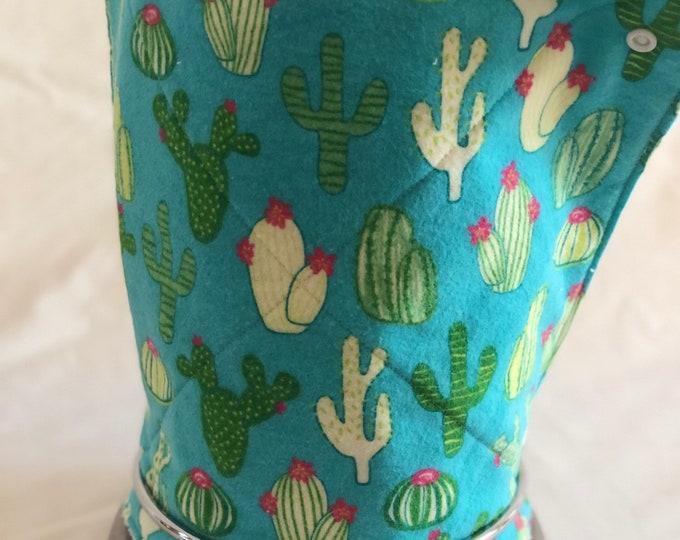 Unpaper towels, Roll of 12 cactus cotton terry cloth kitchen towels, Snap together towels, cotton napkins, Cacti Reusable paper towels