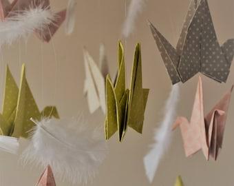 Pastel origami mobile.