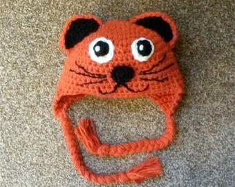 Cat Hat, Cat Handmade Hat, Animal Hat, Crochet Hat, Adult Hat, Teen Hat, Child Hat, Kids Hat, Toddler Hat,  Baby Hat
