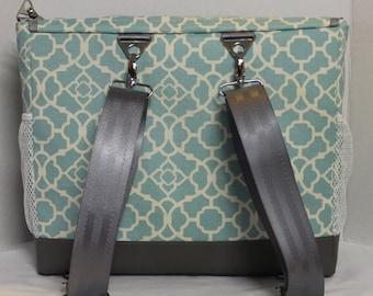 Detachable seat belt webbing backpack straps add on