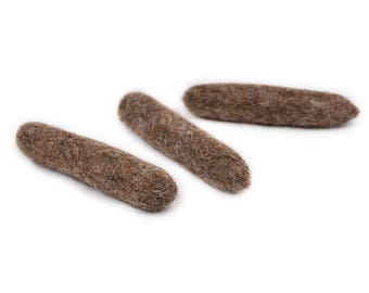 Funny felt cat toy Cat poop toy made of natural organic sheep wool and stuffed with Valerian root or Catnip