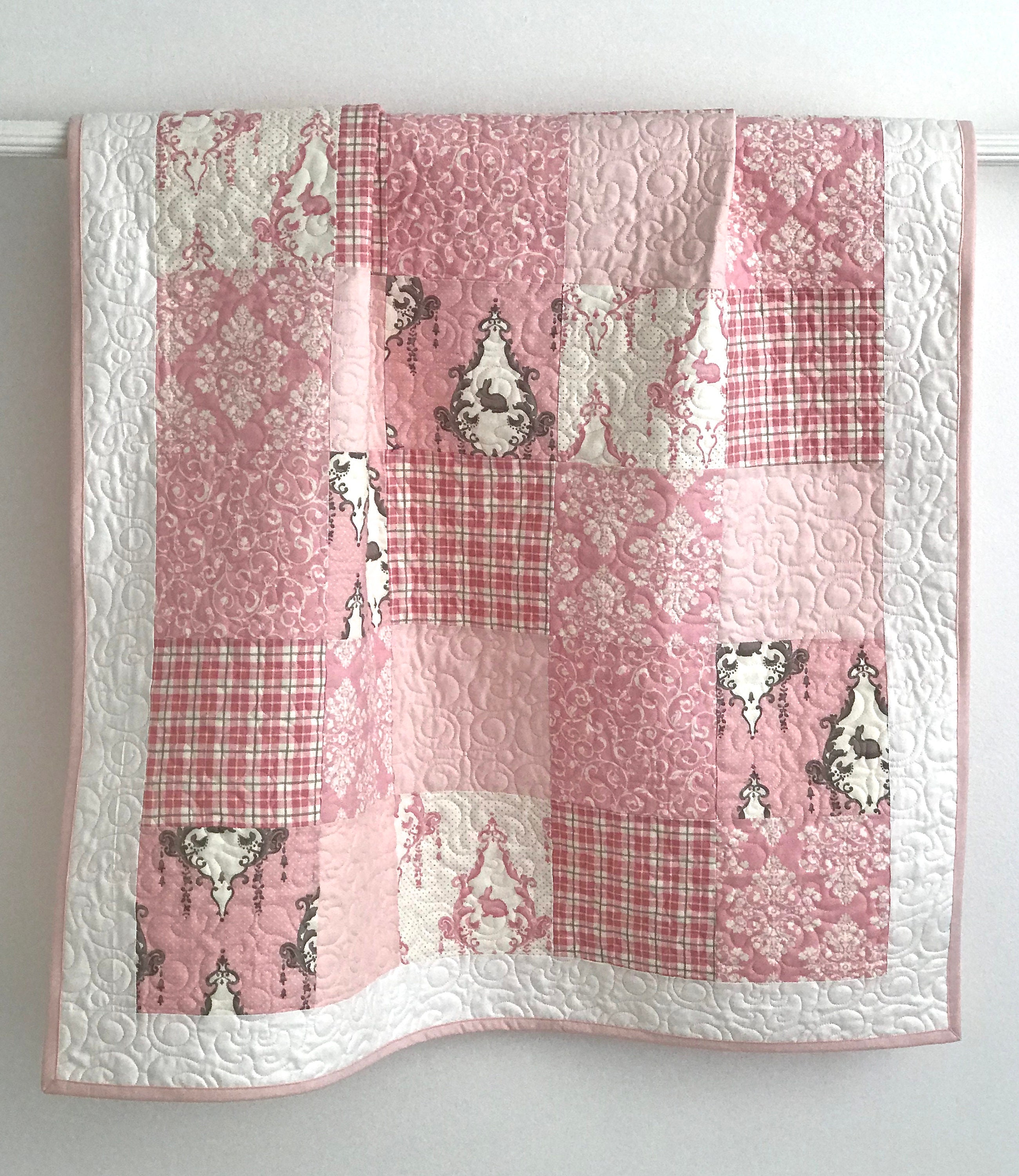 Baby Quilt Girl Patchwork Bunny Hill Designs Lilly and Will