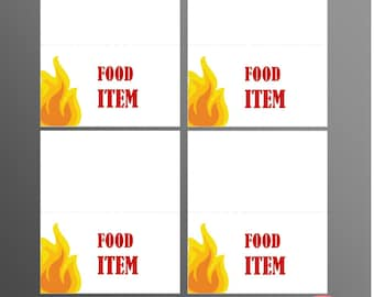 PRINTABLE Fire Truck Food Labels (Customizable)