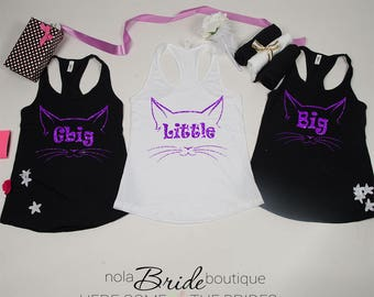 Big Little GBig GGBig Sorority tanks, sorority tank, Little Big, Greek shirt, Little sister, Big Sister, Big and Little shirts d46