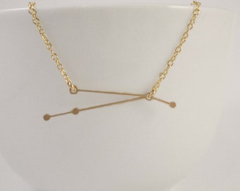 Aries Constellation Necklace, Zodiac Constellation, Constellation Necklace, Aries Charm, Astrology, Stars