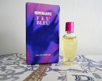 Nonchalance Feu Bleu eau de parfum miniature bottle by Maurer & Wirtz, new in box.