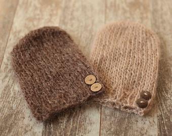 Twin hats, Newborn hat, Mohair hat, Photo prop