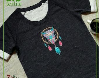 Women short sleeve sweatshirt embroidered Limited Edition