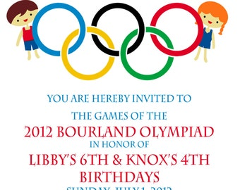 Olympic Gymnastics Party Invitation Olympic Birthday Party - Olympic party invitation template
