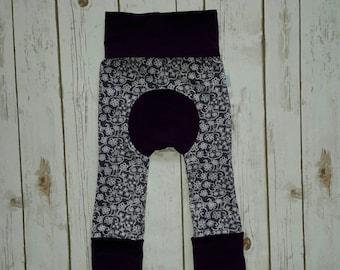 Maxaloones Grow With Me Pants Purple Lace Baby Leggings
