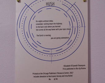 HUSH Broadside - Includes Donation to Oxfam America