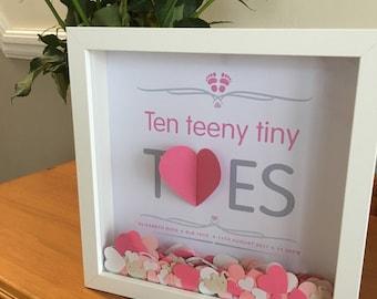 3D heart Baby Gift - Newborn gift - Personalised baby gift  - Nursery wall art -  Nursery Decor - Baby boy gift - Baby Gift - Baby present