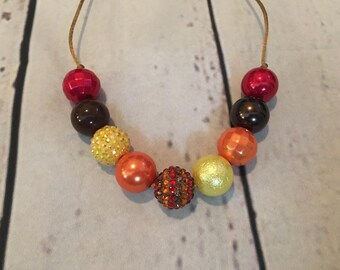 Thankful chunky bead necklace