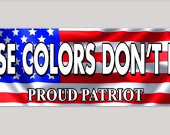 Patriotic bumper sticker