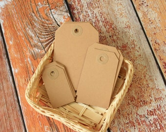 BUFF Brown Reinforced Luggage Tag